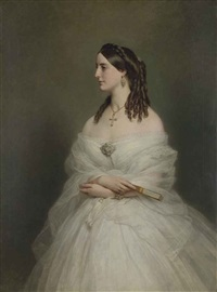 portrait of mrs vanderbyl by franz xaver winterhalter