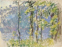 paysage à villez by claude monet