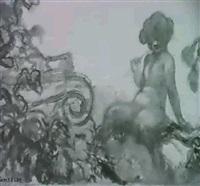 petit faune dans un paysage by gaston de fonseca