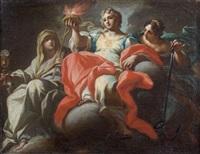 allegories de la foi, l'espoir et la charité by sebastiano conca
