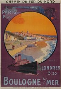 chemin de fer du nord paris londres boulogne sur mer by henry de renaucourt