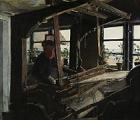 at the loom in the corner of the room by laurits andersen ring