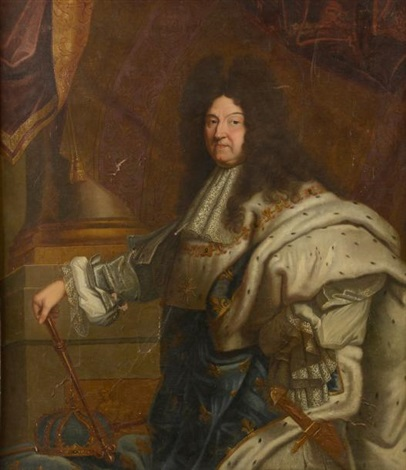 020a3e8b896 Portrait de Louis XIV en manteau dhermine by Hyacinthe Rigaud on artnet