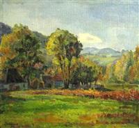 rural landscape by constantin mihalcea braga
