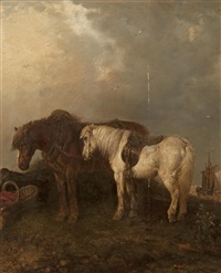 horses by the coast by edward robert smythe
