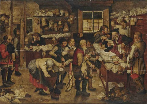 the payment of the tithes by pieter brueghel the younger