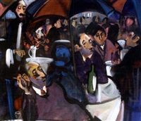 cafe scene with figures by george dunne