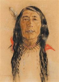 cree indian by nicholas de grandmaison