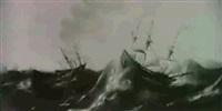 navires dans la tempete by aert van antum