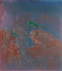 翠氛松濤 (landscape) by zheng zaidong