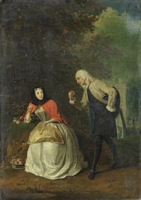 a courtly conversation by josef van aken