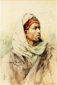portrait d'ali ben mohamed by georges gasté