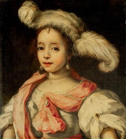 portrait dune femme au chapeau à plumes by jan van noordt