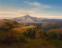pastoralt landskap by joachim frich