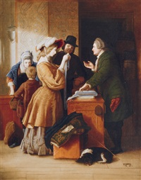 choosing the wedding gown by william mulready