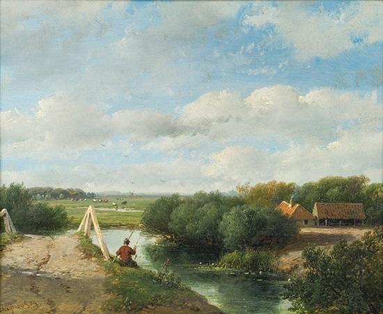 landsschaft idylle by andreas schelfhout