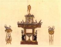 muster der neuesten londoner, pariser und wiener meubles... by johann hieronymus loeschenkohl