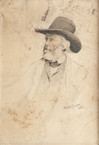 portrait de thomas carlyle by walter greaves