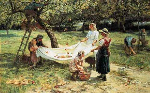 an apple-gathering by frederick morgan