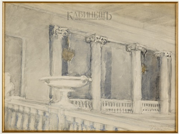 колоннада by anna petrovna ostroumova lebedeva