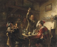 bringing out a toast by gustav zaak