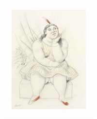 circus woman by fernando botero