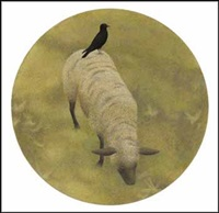 crow and sheep by david alexander colville