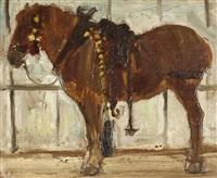stehendes pferd by julius paul junghanns