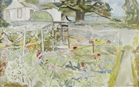 garden with trellis by john mcnairn