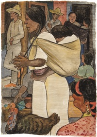 turkey market by diego rivera