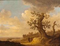 promeneurs se reposant sous un arbre by jan coelenbier