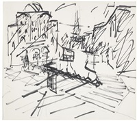 sketch for camden theatre by frank auerbach