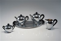 kaffeeservice bombé (set of 5) by carlo alessi
