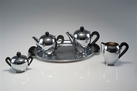 kaffeeservice bombé set of 5 by carlo alessi