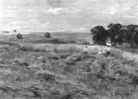 in the hay fields by henri-aimé duhem