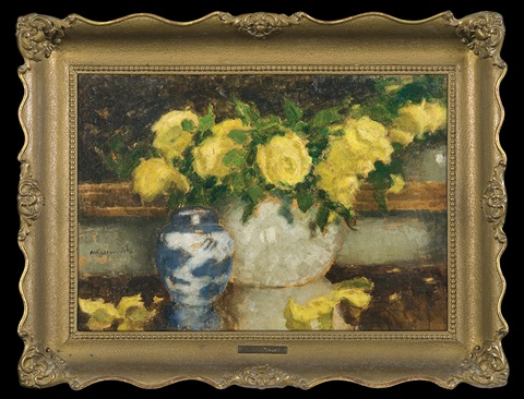yellow roses by alfons karpinski