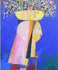 woman with yellow basket by mauro (malang) santos
