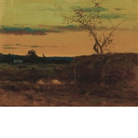 late sunset by george inness