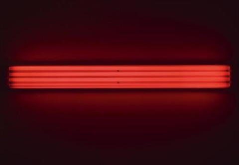 four red horizontals to sonja by dan flavin