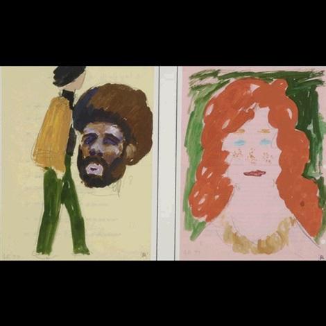 portrait of a man a woman by alek rapoport
