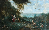 allégorie de la mer by ferdinand van kessel