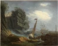 bateau accostant par gros vent by carlo bonavia