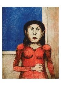 mujer enojada by rufino tamayo