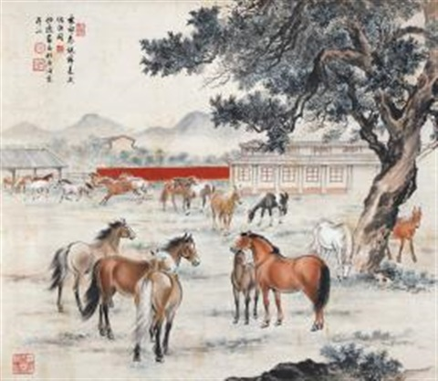 春郊神骏 horses by guan songfang and ma jin