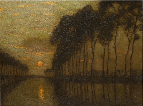the bruges canal belgium by charles warren eaton