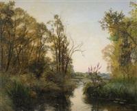 bord de rivière by albert f.a. laurens