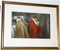 cardinal pandolphus at the excommunication of king john by sir john gilbert