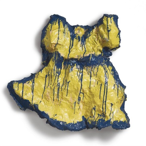 yellow girl's dress by claes oldenburg