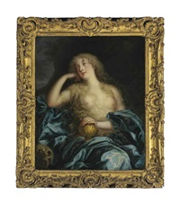 portrait of a lady as the penitent magdalene by henri gascars
