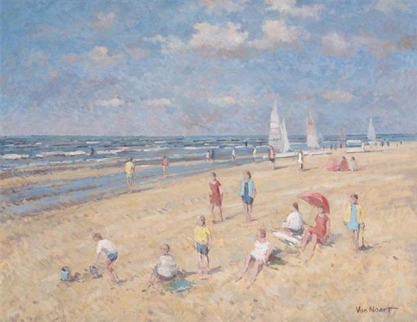 à la plage by arie van noort